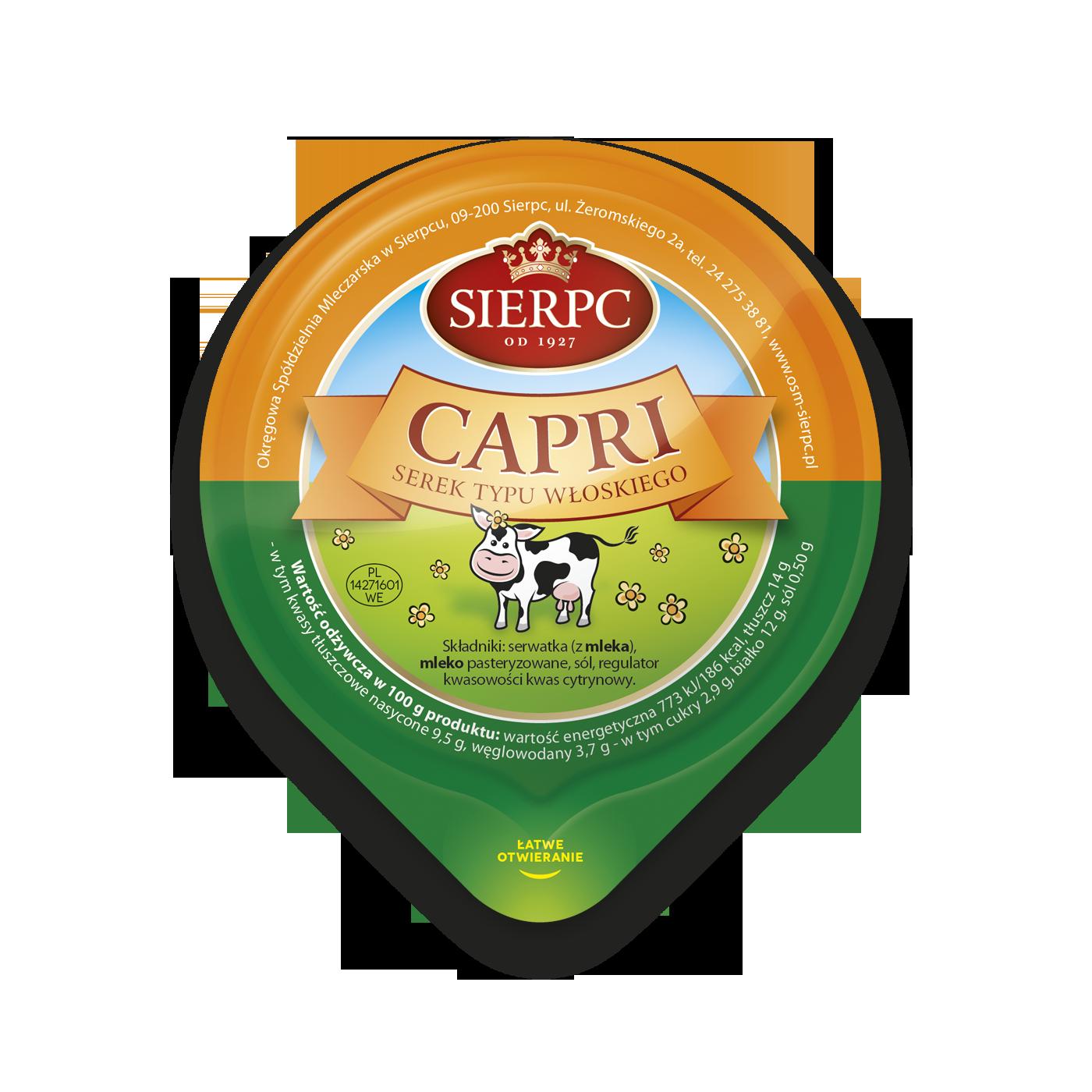Сырок «Капри» — Итальянского типа